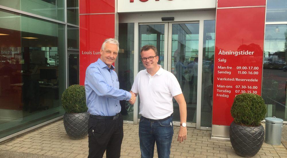 Toyota, Louis Lund A/S og BKVejen indgår partnerskab.